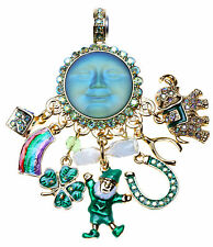 KIRKS FOLLY LUCKY CHARMS SEAVIEW MOON MAGNETIC ENHANCER leprechaun 4 leaf clover