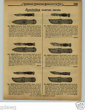 1929 PAPER AD 2 Sided Reminton Hunting Knife Knives Leather Sheath Kleanblade