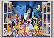 DISNEY PRINCESS MINNIE CHARACTER WINDOW WALL STICKER 3D BEDROOM GIRLS BOYS KIDS