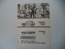 advertising Pubblicità 1962 INNOCENTI AUSTIN A40 A 40/950 SPYDER SPIDER