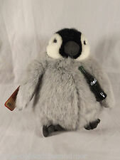 Penguin Coca Cola Boyds Bears Stuffed Animal Tags 919968 Plush Gray Black White
