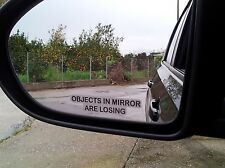 Objects in Mirror are Losing Wing Mirror 2x Stickers Funny Car Truck Caravan Bus