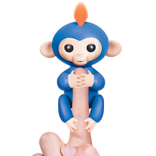 WowWee Fingerlings Baby Monkey Electronic Interactive Toy Girls Robot Pet BLUE