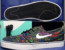 Nike Zoom Stefan Janoski SB Canvas QS Be True SZ 11 ( 702981-009 )