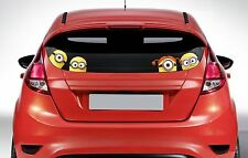 x4 Peeping Minions on board - Funny Car or Van Window / Bumper Decal Sticker