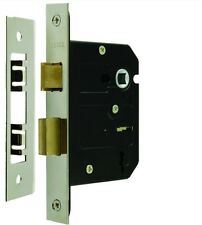 "8207 - Satin Chrome Mortice Door Sash Lock 3 Lever 76mm 3 "" **FREE SHIPPING**"