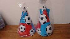 16 Cone Party HATS Kids Birthday Party Favors Supplies ALL-STAR SOCCER PH5
