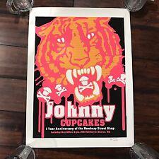 Johnny Cupcakes Signed Newbury St Boston 1 Year Anniversary Poster 51/150 RARE