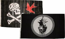 3x5 3'x5' Wholesale Combo Jolly Roger Pirate Jack Sparrow Black Pearl Flags Flag