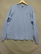 "Z7028 Gildan blue long sleeve crew neck ""Band of Brothers"" hockey t-shirt sizeXL"