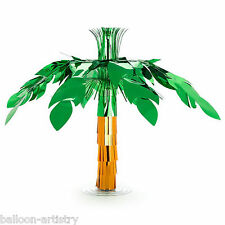 60.9cm Giant Tropical Hawaiian Party Palm Tree Foil Table Centrepiece Decoration