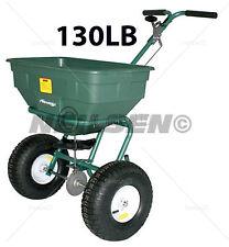 130LB MULTI USE SALT SAND GRIT GRITTER LAWN SEED FERTILIZER SPREADER  08