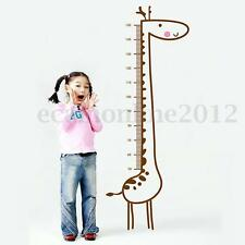 Giraffe Height Chart Wall Sticker Kids Girls Boys Growth Measure Home Nursery