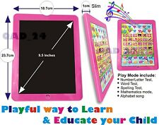 PINK TABLET - My First Year Kids PAD Educational Toy Xmas Gift for Infants Child