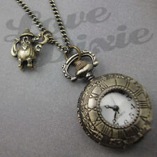 Alice in Wonderland Pocket Watch Necklace Teapot Steampunk