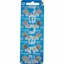 10 x Renata 386 Watch Batteries, 0% MERCURY equivalent SR43W, Swiss Made