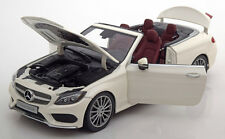 Iscale 2016 Mercedes Benz C Klasse A205 Convertible White Dealer Ed 1/18 New!