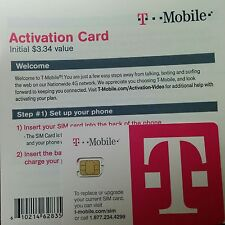 T-Mobile Prepaid OEM NANO 4G Sim ACTIVATION Kit + $3.34 credit.use for. IPHONE 5