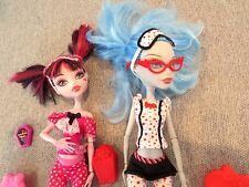 Monster High 2 Dolls Pajama Clothes  Shoes Accessories   Lot A2