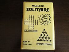 Hip Huggers Magnetic Solitaire Game Travel #514-29 Pyramid & IQ Challenge