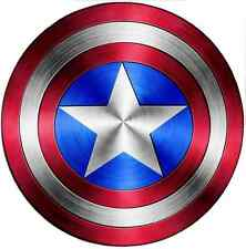 IRON ON TRANSFER For Any Color Tshirt - CAPTAIN AMERICA SHEILD - 19cm X 19cm