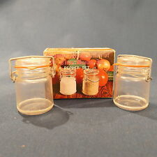 Vintage Plastic Mason Canning Jar Salt Pepper Shakers Country Kitchen in Box