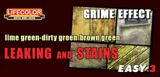 LifeColor Leaking and Stains Grime Effect weathering paints (22ml x 3)
