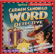 Carmen Sandiego WORD DETECTIVE PC Windows & Mac Educational Children's NEW