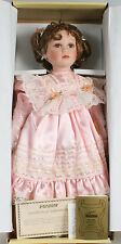 GIRL PORCELAIN DOLL IN PINK DRESS FROM SEYMOUR MANN IN ORIG. BOX