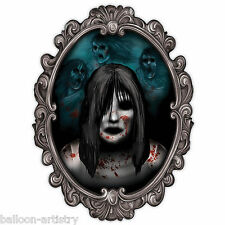 Haunted House Halloween Party Ghost Girl Gothic 3D Mirror Wall Decoration