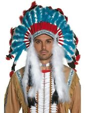 ADULT MENS AUTHENTIC WESTERN INDIAN HEADDRESS COWBOYS AND INDIANS - ONE SIZE