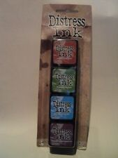 TIM Holtz Distress Ink Mini Pack #2 tdpk 40323 NUOVO con confezione 4 MINI Ink Pad * Look *