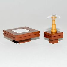 LEGO Furniture: Table Seating Set (Brown) - Coffee & Side Tables + Lamp  [house]