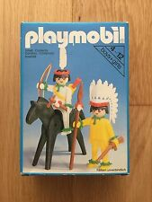 PLAYMOBIL 3580 INDIO INDIAN VINTAGE WESTERN OESTE BOX CAJA OVP COMPLETO