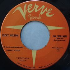 RICKY NELSON: I'm Walkin' / Teenager's Romance VERVE ORIG rockabilly ROCK 45 mp3