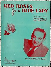 VINTAGE SHEET MUSIC - 1948 RED ROSES FOR A BLUE LADY - TEPPER & BRODSKY (1948)