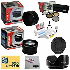 10 Piece Pro Lens kit for Panasonic Lumix Digital DMC-FZ38 DMC-FZ18