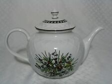 Lenox Etchings Collection Teapot Carved White EUC