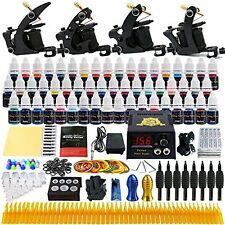 Solong Complete Tattoo Kit 4 Pro Machine Guns 54 Inks Power Supply Needles Grips