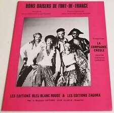 Partition sheet music LA COMPAGNIE CREOLE : Bons Baisers de Fort de France *80's