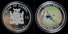 Zambia 1000 kwacha 2010- Deadly bugs- black widow spider