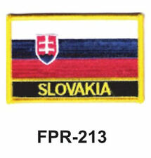 """2-1/2'' X 3-1/2"""" SLOVAKIA Flag Embroidered Patch"""