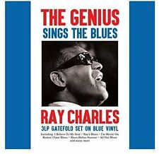 THE GENIUS SINGS THE BLUES RAY CHARLES 3 LP GATEFOLD SET ON BLUE VINYL