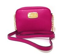 Bnwt Michael Kors Hamilton LEATHER Crossbody Bag Fucsia Rosa RRP £ 150.00