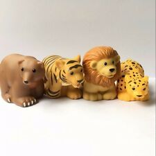 4x Fisher-Price Little People Zoo Park Animal Leopard Lion Tiger Bear figure Toy