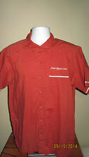 Large Patagonia Utah Olympic Oval Short Sleeve Button Down Shirt Salmon Rust