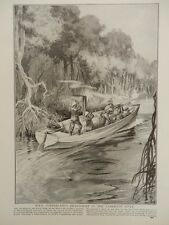 1914 VICKERS MG STEAM LAUNCH CAMEROON RIVER HMS CUMBERLAND'S PICKET BOAT WWI WW1