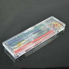 140pcs Solderless Breadboard U  99 UK Jumper Cable Wire Kit for Arduino + Box