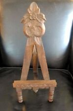 Vintage EASEL Carved Wood Gothic Revival Picture Art Painting Display