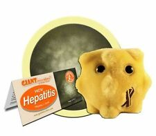 GIANTMICROBES ORIGINAL EPATITE C - Hepatitis C virus HCV - Peluche virus batteri
